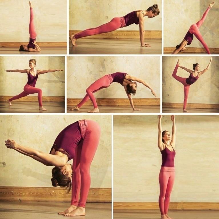 Позы йоги похудения картинках