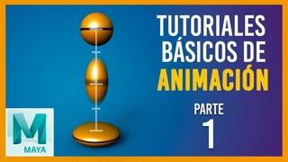 Tutorial básico de animación en Maya ::: Rebote vertical de pelota / Vertical Bouncing ball