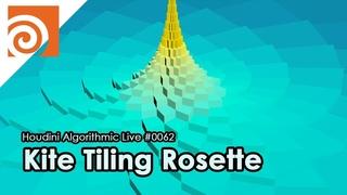 Houdini Algorithmic Live #062 - Kite Tiling Rosette