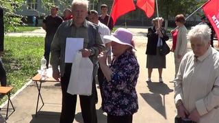 Путин и Медведев уходите! Бабушка плачет довёли