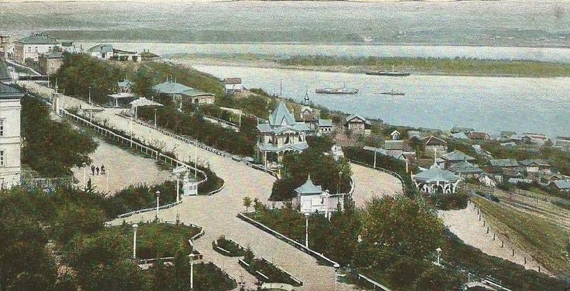 Симбирск. Бульвар Новый Венец. Дореволюционное фото.