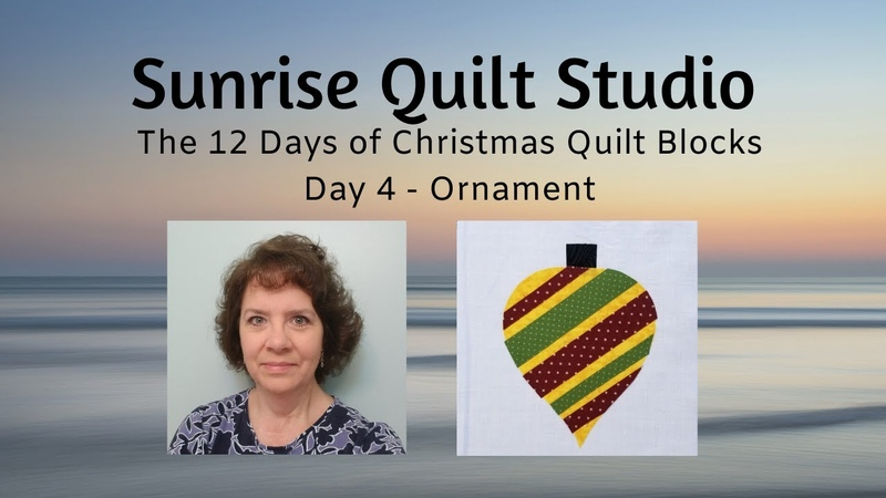 Ornament - The 12 Days of Christmas Quilt Blocks - Day 4
