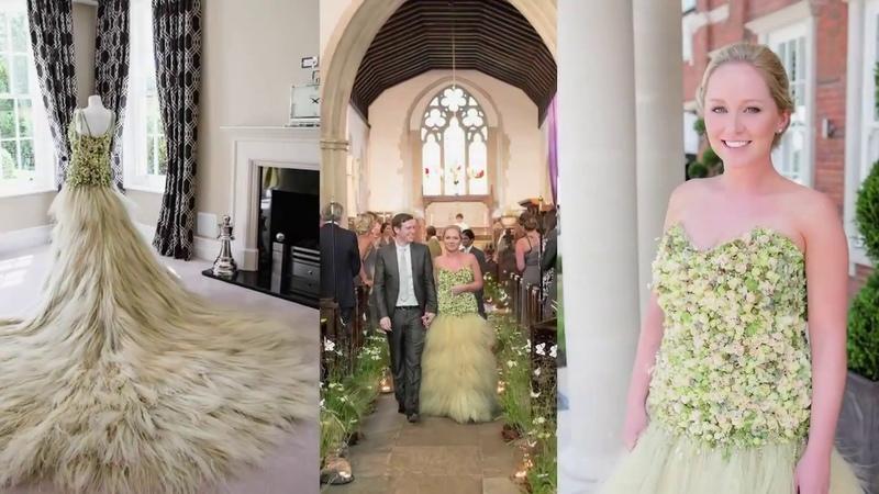 Zita Elze Creates A Floral Wedding Dress