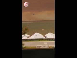 Русские туристы и пожары в Турции