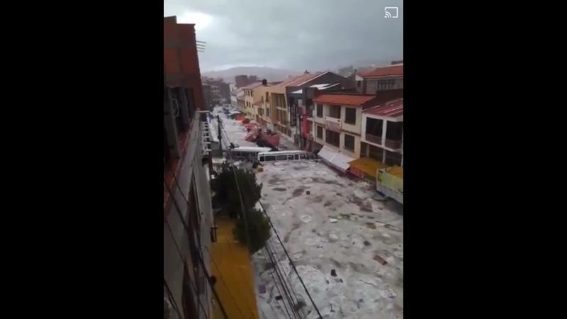 Ливневый паводок в Сукре Боливия 4 01 2021