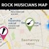 Rock Musicians Map
