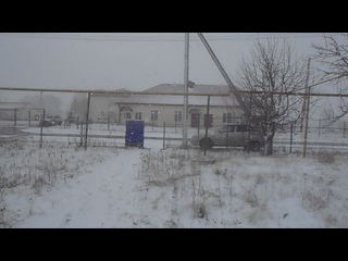 с. Большие Кайбицы. Татария. Сильный ливневый снег ( г. 09-30 ч. МСК)