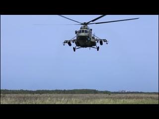 Учение с экипажами вертолетов Ми-8АМТШ в Курганской области