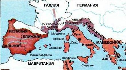 Карта региона перед войной. В позапрошлой части мы обсудили как Помпей закрыл «восточный вопрос», воевать там теперь стало решительно не с кем.