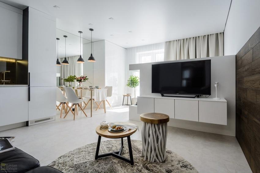 Интерьер квартиры-студии 39 м в Новосибирске.