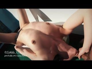 LеоLulu_ХХХ - Holiday Blowjob Deepthroat on the Terrace + Squirt (720p) [Amateur, Fit Teen, POV, Blowjob, Fingering]
