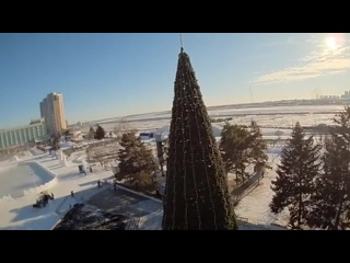 Снежный городок-2018 с квадрокоптера