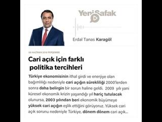 Erdal Tanas Karagöl - Cari açık için farklı politika tercihleri -
