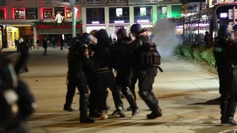 Violence policiere a caen pendant lacte 56 et greve nationale