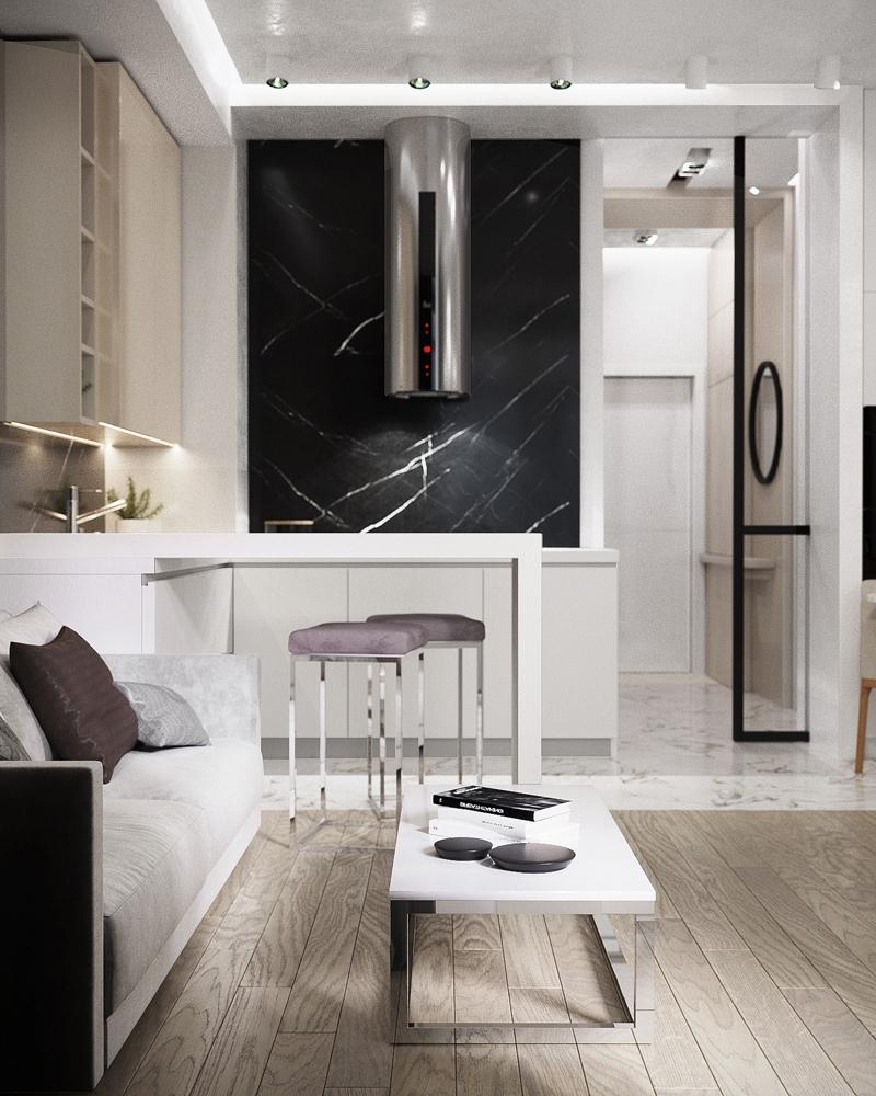 Концепт квартиры-студии 32 м.