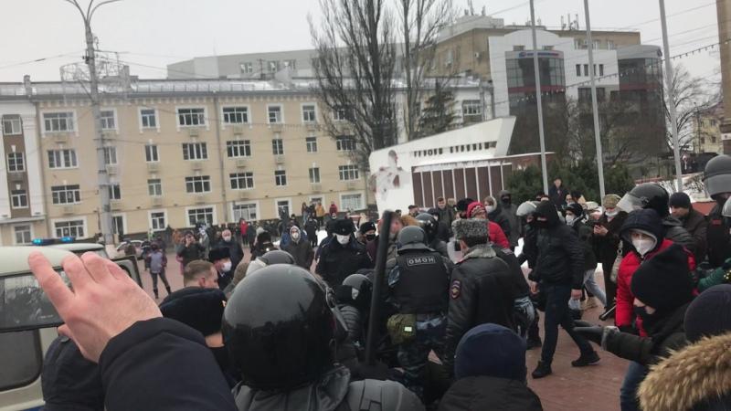 Стихийный митинг, Курск, 23 января 2021 г., часть 2