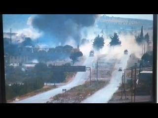 Подрыв колонны ВС РФ в Сирии