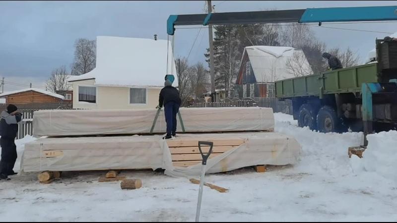 Строительство двухэтажного дома из бруса профилированного