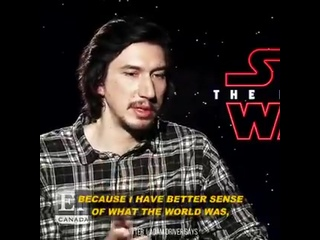Adam Driver interviews for ET Canada, Star Wars: The Last Jedi Press Junket, 2017.