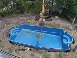 Установка небольшого бассейна на заднем дворе