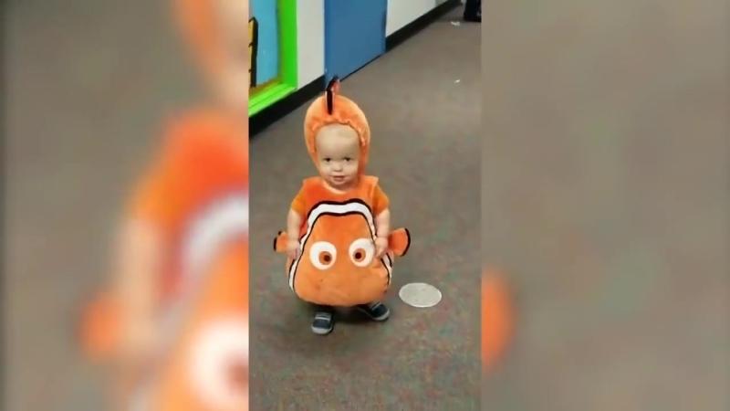 Классический Аниме Клоун Рыба Мони, милый детский костюм,