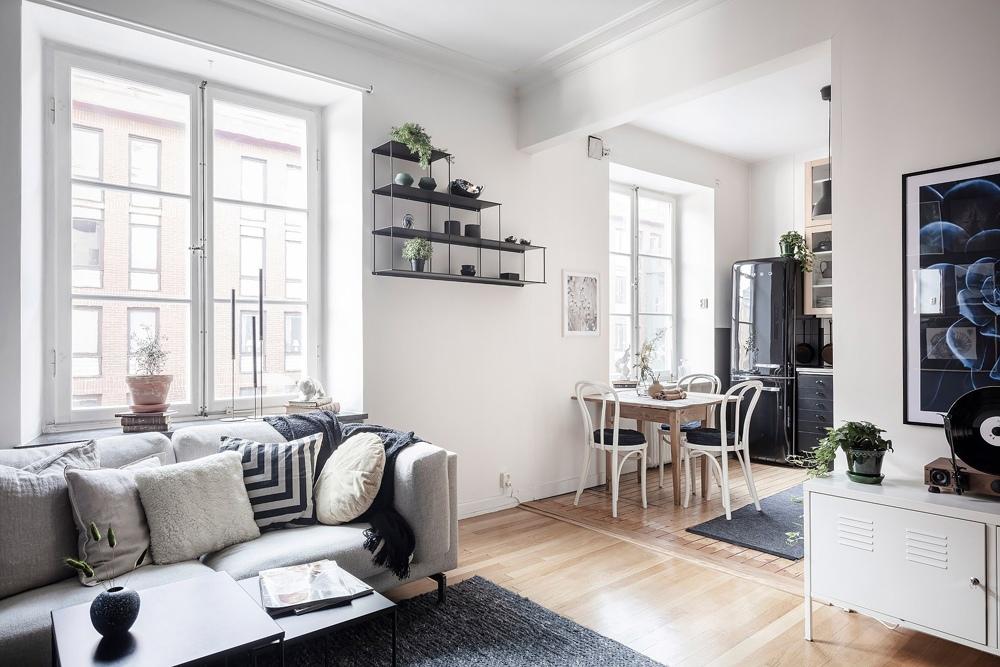 Обстановка скандинавской квартиры-студии 37 кв.