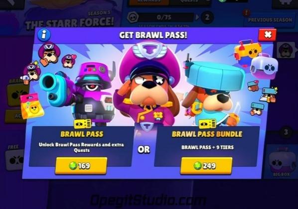 Экран покупки нового сезона Brawl Pass! #BS@supercell_studio