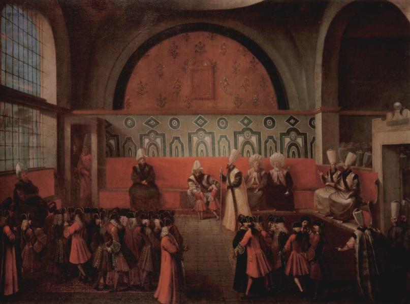 Великий визирь Ибрагим-паша, его великаны и крошечные французы