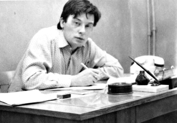 Первый год журналисткой деятельности Валерий Николаевич работает в газете Магнитогорского металлургического комбината, Челябинской области, 1969 г.