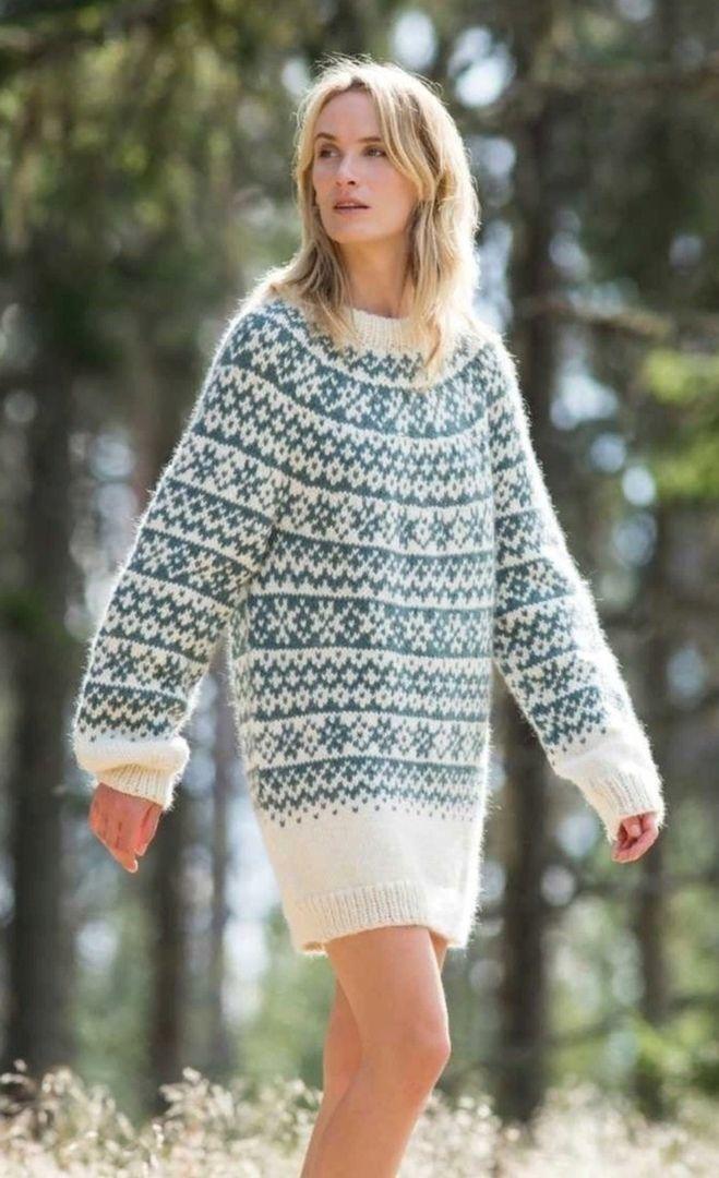 Норвежское мини-платье или свитер MOONSTONE