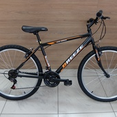"""Велосипед Иж-байк Breeze 26"""" (2020) Черный/Оранжевый/Белый"""