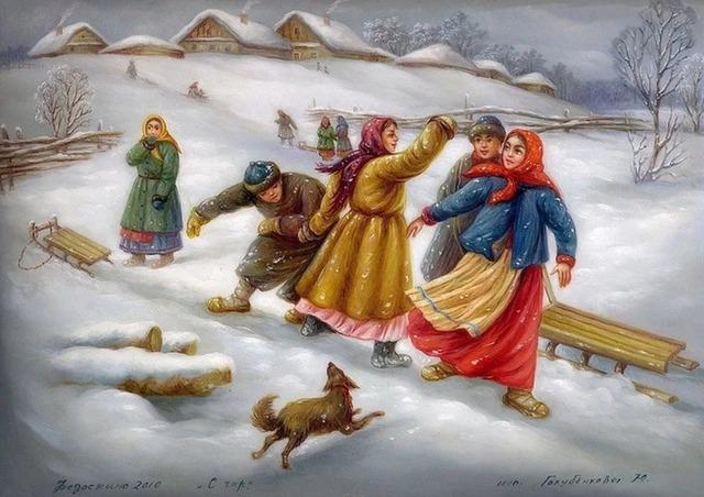 приметы и суеверия про зиму,