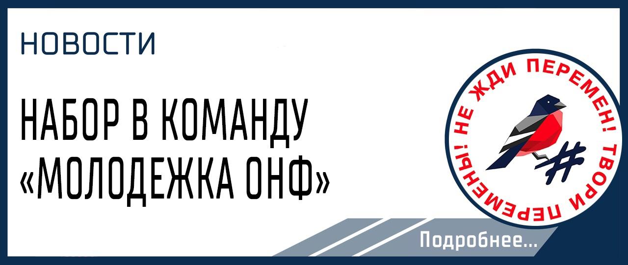 НАБОР В КОМАНДУ  «МОЛОДЕЖКА ОНФ»