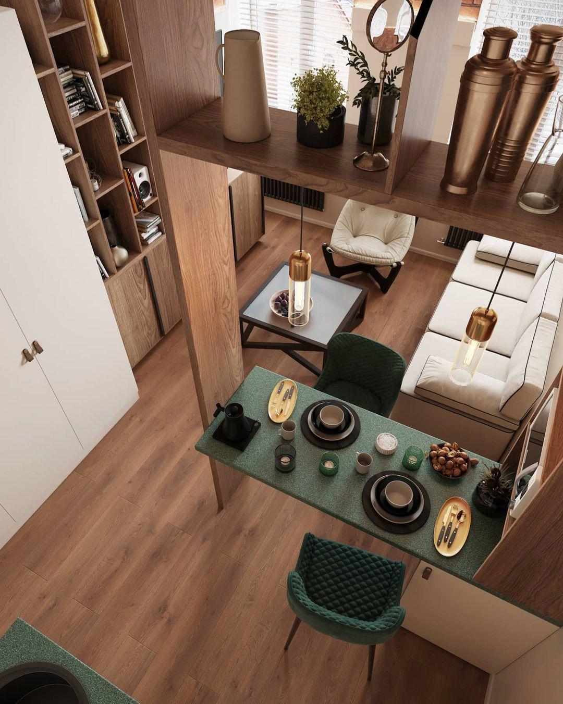 Проект маленькой гостевой студии 20 кв.