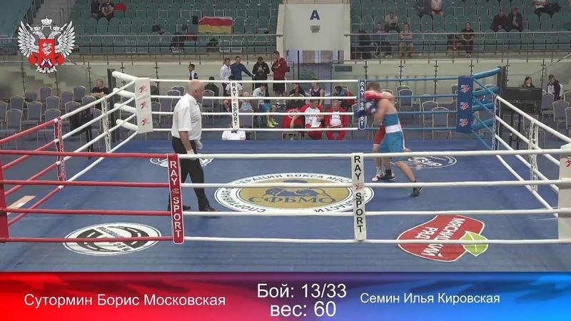 Всероссийские соревнования по боксу памяти И Д Кобзона день 2