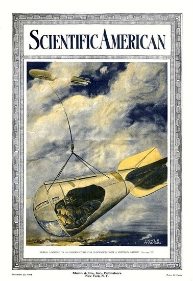 Все ради сигареты. Во время Первой Мировой войны немцы придумали специальную шпионскую корзину для дирижаблей. Сам корабль шел над облаками и никак не выдавал себя, а на тросе спускали крохотную