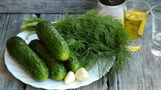Простой летний салатик из огурцов / 5 минут и готово