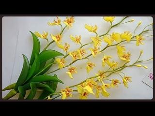 Мастер-класс по цветам из капрона: Дикая орхидея