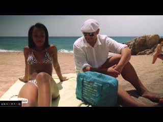 Noe Milk & Antonio Ross [ Mulattos &  Pickup / Deep blowjob, Cum on face, Tattoo, On the beach, Shaved, Riding dick, Rolle