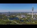 München von Oben Westpark Olympiapark Olympiaturm Munich from Above Drone 4K
