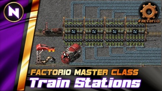 Efficient LOADING/UNLOADING Train Station designs | Factorio Tutorial/Guide/How-to