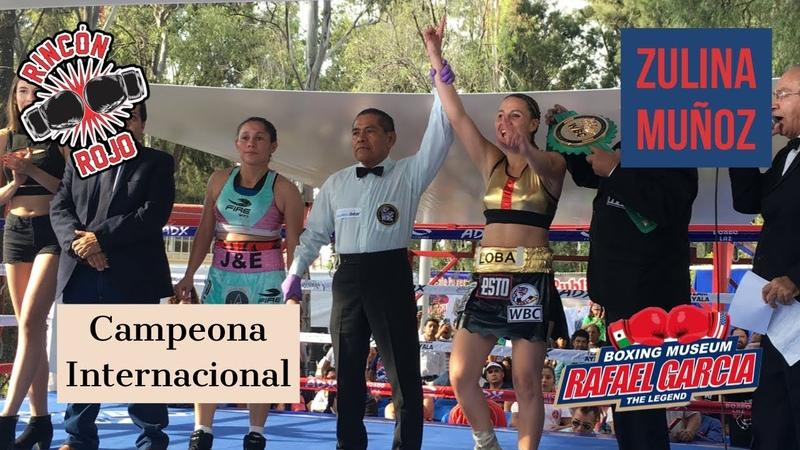 """Loba"" Muñoz flamante Campeona Internacional WBC"