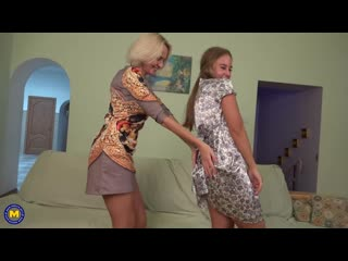 Artemia  Camilla - Horny old and young lesbian couple fooling around_ Lesb