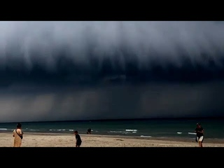 Strange scary clouds appear in the sky of Denmark 'Roll Cloud'