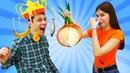 Смешные видео игры - Прикольные ЧЕЛЛЕНДЖИ с Едой! - Весёлые игры для девочек в видео шоу Вики