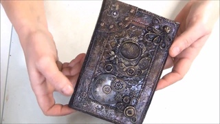 TUTO FIMO  COUVERTURE DE CARNET STEAMPUNK  / POLYMER CLAY TUTORIAL COVER
