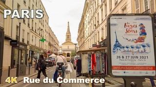 Paris walking tour - Rue du Commerce [4K UHD]