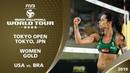 Women's Gold Medal USA vs BRA 4* Tokyo JPN 2019 FIVB Beach Volleyball World Tour