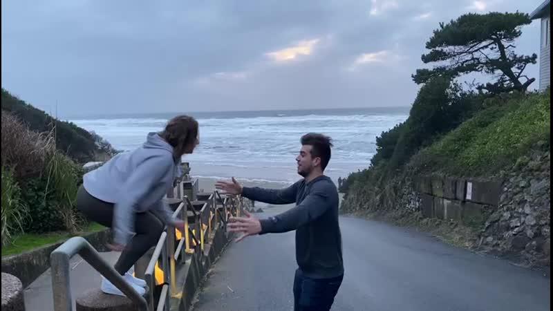 Ocean couple crazy people