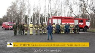 Тренировочное тактико-специальное учение по тушению пожара в лесу Горловки
